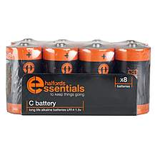 image of Halfords Essential Batteries C x8