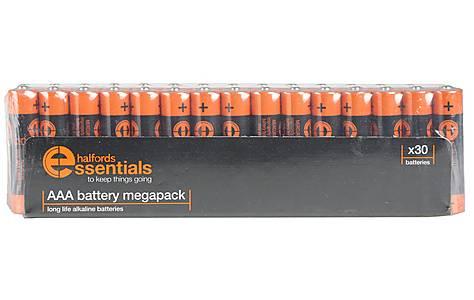 image of Halfords Essential Batteries AAA x30