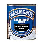 image of Hammerite Garage Door Paint Gloss Black 750ml