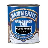 Hammerite Garage Door Paint Gloss Black 750ml