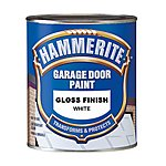 image of Hammerite Garage Door Paint White 750ml