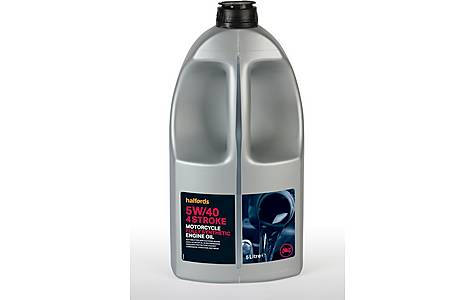 image of Halfords Motorcycle Engine Oil Fully Synthetic 5W/40 - 5ltr