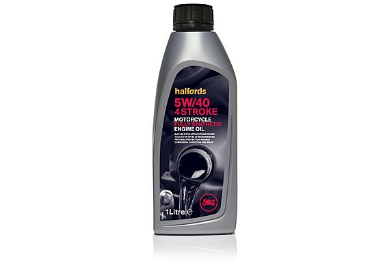 Halfords Motorcycle Engine Oil Fully Synthetic 5W/40 4 Stroke 1l