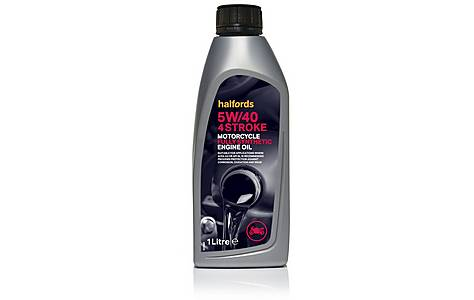 image of Halfords Motorcycle Engine Oil Fully Synthetic 5W/40 4 Stroke 1l