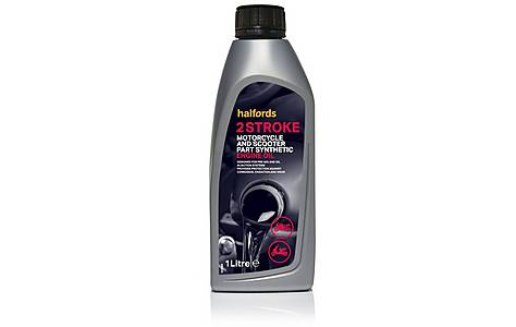 image of Halfords Motorcycle and Scooter Engine Oil 2 Stroke - 1ltr