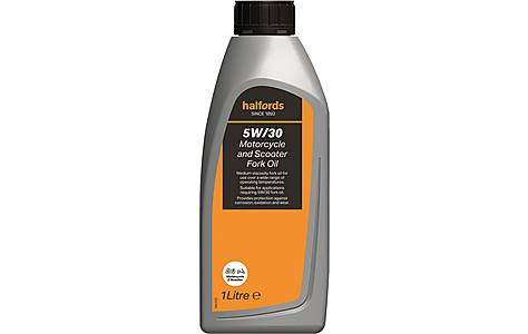 image of Halfords Motorcycle Fork Oil 5W30 1L