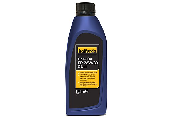 Halfords Gear Oil EP 75W/80 GL-4 1L