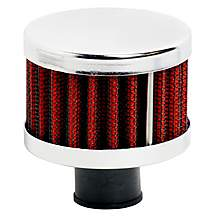 image of Ripspeed Universal Vent Filter Gauze/Chrome Finish - Red