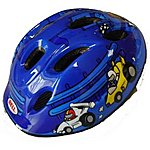 image of Bell Jumpstart Blue Cars Bike Helmet (48-53cm)