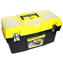 """image of Halfords 19"""" Plastic Cantilever Tool Box"""