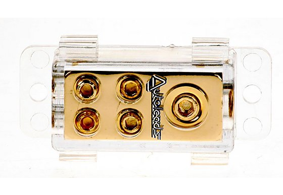 Autoleads Mini Gold 4 Way Distribution Block G2-11