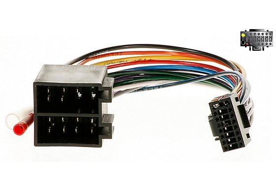 Kenwood to ISO Car Audio Connector (amplified)
