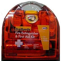 image of Halfords Fire Extinguisher & First Aid Kit
