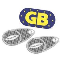 Halfords Headlamp Beam Adaptors & Magnetic GB Plate