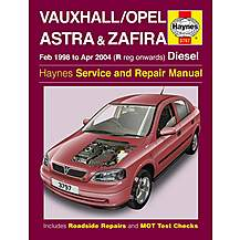 image of Haynes Vauxhall Astra and Zafira (Feb 98 - Apr 04) Manual