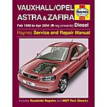 Haynes Vauxhall Astra & Zafira (Feb 98 - Apr 04) Manual