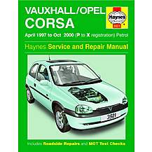 image of Haynes Vauxhall Corsa (Apr 97 - Oct 00) Manual