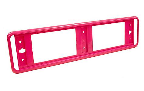 image of Halfords Pink Number Plate Trim