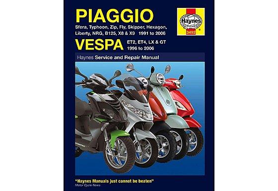 Haynes Piaggio (Vespa) Scooters (91 - 06) Manual