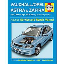 image of Haynes Vauxhall Astra & Zafira (Feb 98 - Apr 04) - Manual