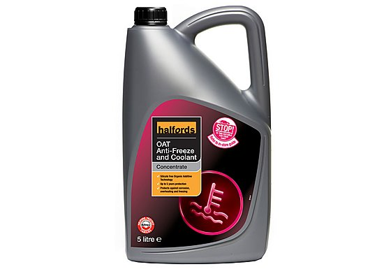 Halfords OAT Antifreeze Concentrate 5 Litres