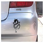 image of Storm Graphics Dragon Bodywork Sticker Black