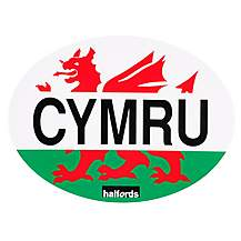 image of Halfords Cymru Car Sticker