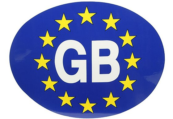 Halfords GB - Euro Car Sticker