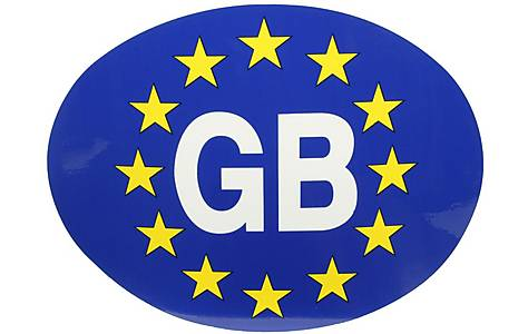 image of Halfords GB - Euro Car Sticker