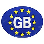 image of Halfords GB Euro Car Sticker