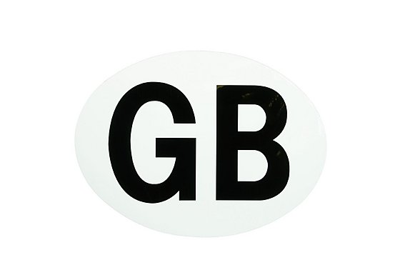 Halfords GB Car Sticker