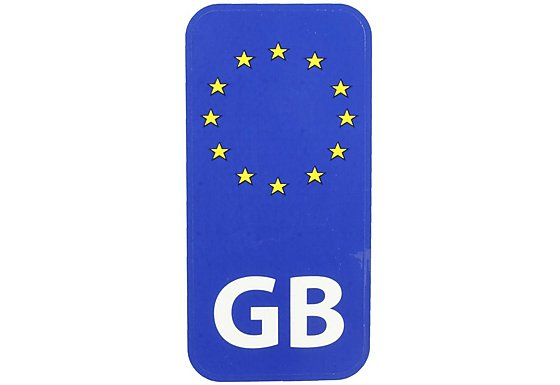Halfords GB Euro Car Sticker