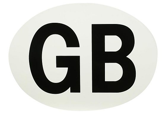 Halfords Cling GB Plate