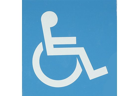 Halfords Disabled Sticker