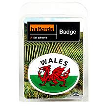 image of Halfords Deluxe Welsh Badge