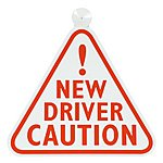 image of Halfords New Driver Sign