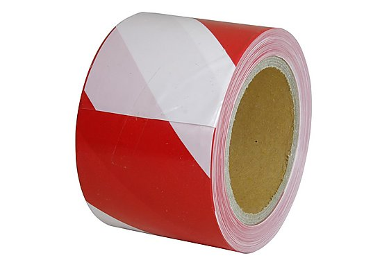 Halfords Red and White Barrier Tape