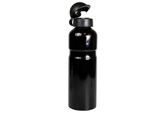 Halfords Aluminium Bike Water Bottle - Black