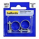 image of Halfords Petrol Hose Clips 15mm-17mm HFX267