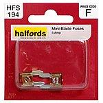 image of Halfords Mini Blade Fuses 5 Amp HFS194