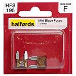 image of Halfords Mini Blade Fuses 7.5 Amp HFS195