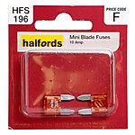 image of Halfords Mini Blade Fuses 10 Amp HFS196