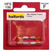 Halfords Mini Blade Fuses 10 Amp HFS196