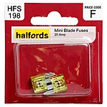 image of Halfords Mini Blade Fuses 20 Amp HFS198