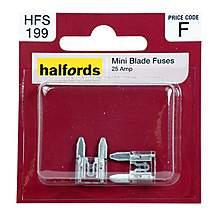 image of Halfords Mini Blade Fuses 25 Amp HFS199
