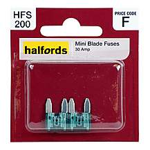 image of Halfords Mini Blade Fuses 30 Amp HFS200