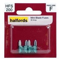 Halfords Mini Blade Fuses 30 Amp HFS200