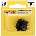 image of Halfords Round Rocker Switch 10 Amp Max HEF356