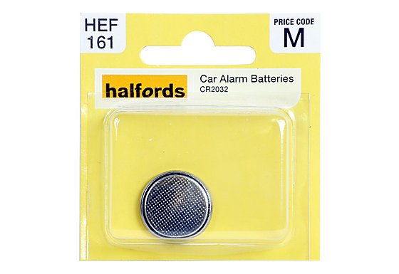 Halfords Car Alarm Battery CR2032