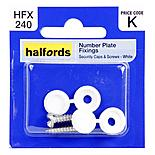 Halfords Number Plate Fixings HFX240